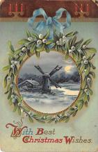 xms006293 - Christmas Post Card Old Vintage Antique Xmas Postcard