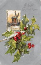 xms006299 - Christmas Post Card Old Vintage Antique Xmas Postcard
