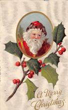 xms100015 - Santa Claus Post Card Old Vintage Antique Christmas Postcard