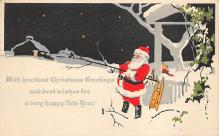 xms100017 - Santa Claus Post Card Old Vintage Antique Christmas Postcard