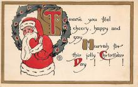 xms100039 - Santa Claus Post Card Old Vintage Antique Christmas Postcard