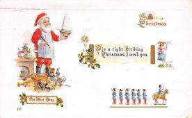 xms100061 - Santa Claus Post Card Old Vintage Antique Christmas Postcard