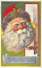 xms100079 - Santa Claus Post Card Old Vintage Antique Christmas Postcard