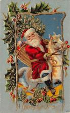 xms100119 - Santa Claus Post Card Old Vintage Antique Christmas Postcard