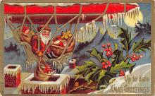 xms100123 - Santa Claus Post Card Old Vintage Antique Christmas Postcard