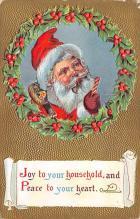xms100149 - Santa Claus Post Card Old Vintage Antique Christmas Postcard