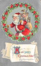 xms100191 - Santa Claus Post Card Old Vintage Antique Christmas Postcard