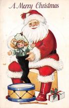 xms100203 - Santa Claus Post Card Old Vintage Antique Christmas Postcard