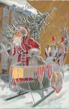 xms100229 - Santa Claus Post Card Old Vintage Antique Christmas Postcard