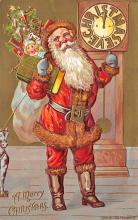 xms100231 - Santa Claus Post Card Old Vintage Antique Christmas Postcard