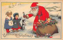xms100253 - Santa Claus Post Card Old Vintage Antique Christmas Postcard