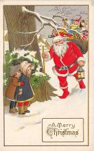 xms100267 - Santa Claus Post Card Old Vintage Antique Christmas Postcard