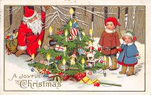 xms100271 - Santa Claus Post Card Old Vintage Antique Christmas Postcard