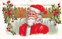 xms100281 - Santa Claus Post Card Old Vintage Antique Christmas Postcard