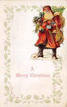 xms100299 - Santa Claus Post Card Old Vintage Antique Christmas Postcard