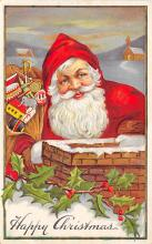 xms100327 - Santa Claus Post Card Old Vintage Antique Christmas Postcard