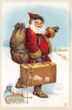 xms100335 - Santa Claus Post Card Old Vintage Antique Christmas Postcard