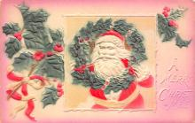 xms100343 - Santa Claus Post Card Old Vintage Antique Christmas Postcard