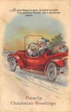 xms100347 - Santa Claus Post Card Old Vintage Antique Christmas Postcard