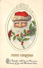 xms100353 - Santa Claus Post Card Old Vintage Antique Christmas Postcard