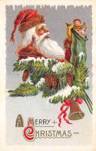 xms100359 - Santa Claus Post Card Old Vintage Antique Christmas Postcard