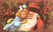 xms100367 - Santa Claus Post Card Old Antique Vintage Christmas Postcard
