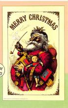 xms100369 - Santa Claus Post Card Old Antique Vintage Christmas Postcard