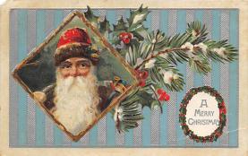 xms100371 - Santa Claus Post Card Old Antique Vintage Christmas Postcard