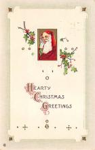 xms100373 - Santa Claus Post Card Old Antique Vintage Christmas Postcard