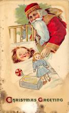 xms100389 - Santa Claus Post Card Old Antique Vintage Christmas Postcard