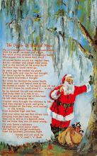 xms100399 - Santa Claus Post Card Old Antique Vintage Christmas Postcard