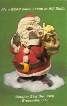 xms100401 - Santa Claus Post Card Old Antique Vintage Christmas Postcard