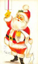 xms100403 - Santa Claus Post Card Old Antique Vintage Christmas Postcard