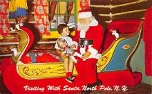 xms100405 - Santa Claus Post Card Old Antique Vintage Christmas Postcard