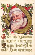 xms100417 - Santa Claus Post Card Old Antique Vintage Christmas Postcard