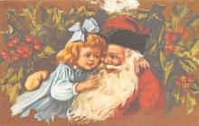 xms100423 - Santa Claus Post Card Old Antique Vintage Christmas Postcard