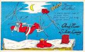 xms100425 - Santa Claus Post Card Old Antique Vintage Christmas Postcard