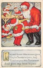 xms100445 - Santa Claus Post Card Old Antique Vintage Christmas Postcard