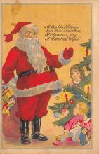 xms100459 - Santa Claus Post Card Old Antique Vintage Christmas Postcard