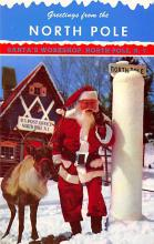 xms100473 - Santa Claus Post Card Old Antique Vintage Christmas Postcard