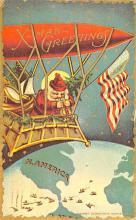xms100487 - Santa Claus Post Card Old Antique Vintage Christmas Postcard