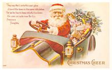 xms100495 - Santa Claus Post Card Old Antique Vintage Christmas Postcard