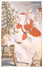 xms100499 - Santa Claus Post Card Old Antique Vintage Christmas Postcard