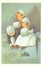 xms100503 - Santa Claus Post Card Old Antique Vintage Christmas Postcard