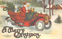 xms100507 - Santa Claus Post Card Old Antique Vintage Christmas Postcard
