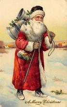 xms100515 - Santa Claus Post Card Old Antique Vintage Christmas Postcard