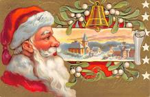 xms100521 - Santa Claus Post Card Old Antique Vintage Christmas Postcard
