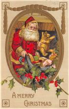 xms100527 - Santa Claus Post Card Old Antique Vintage Christmas Postcard
