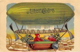 xms100531 - Santa Claus Post Card Old Antique Vintage Christmas Postcard