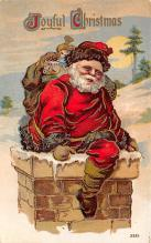 xms100557 - Santa Claus Post Card Old Antique Vintage Christmas Postcard